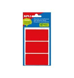 Apli Apli gekleurde etiketten in etui rood (2073)