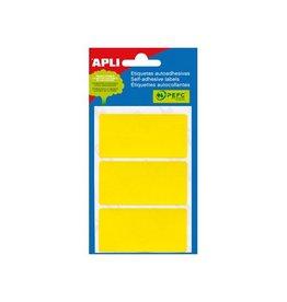 Apli Apli gekleurde etiketten in etui geel (2071)