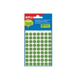 Apli Apli ronde etiketten in etui 13mm groen 175st 35/blad (2058)