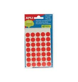 Apli Apli ronde etiketten in etui 13mm rood 175st 35/blad (2057)