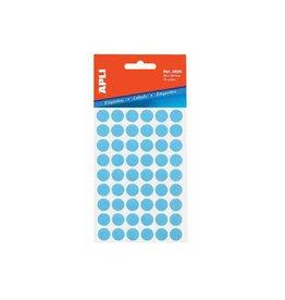 Apli Apli ronde etiketten in etui 13mm blauw 175st 35/blad (2056)