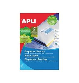 Apli Apli afneembare witte etik. 35,6x16,9mm 2.000st, 80/bl 25 bl