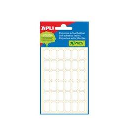 Apli Apli witte etiketten 10x16mm (bxh), 216st, 36/blad (2669)