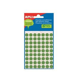 Apli Apli ronde etiketten in etui 10mm groen 315st 63/blad (2054)