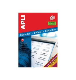 Apli Apli witte etiketten 105x35mm(bxh),4.000st,16 per blad(2524)