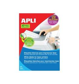 Apli Apli witte etiketten 70x35mm (bxh), 6.000st, 24/blad (2519)