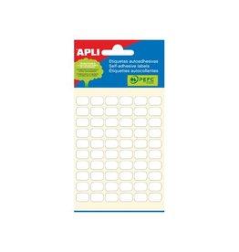 Apli Apli witte etiketten 8x12mm (bxh), 360st, 60 per blad (2667)