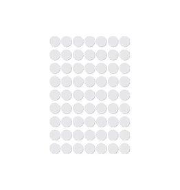 Apli Apli ronde etiketten in etui 10mm wit, 378st, 63/blad (2660)