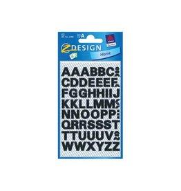 Avery Zweckform Avery Etiketten cijfers en letters A-Z, 2 blad, zwart