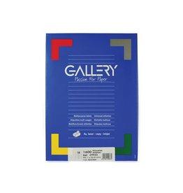 Gallery Gallery witte etik. 99,1x33,9 mm ronde hoeken, 1.600 etik.