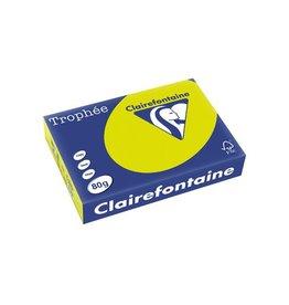 Clairefontaine Papier Clairefontaine Trophée Intens A4, 80 g, 500 vel, fluogroen