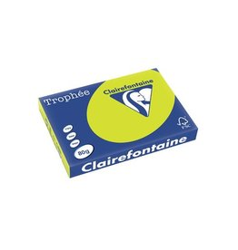 Clairefontaine Papier Clairefontaine Trophée Intens A3, 80 g, 500 vel, fluo groen