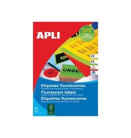Apli Apli fluorescerente etiketten 64 x 33,9 mm (b x h) geel