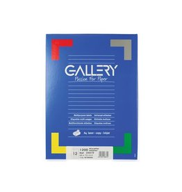 Gallery Gallery witte etik. 66x72 mm ronde hoeken, 1.200 etik.