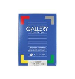 Gallery Gallery witte etik. 66x38,1mm ronde hoeken 2.100 etik.