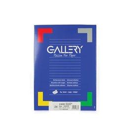 Gallery Gallery witte etik. 66x33,9 mm ronde hoeken, 2.400 etik.