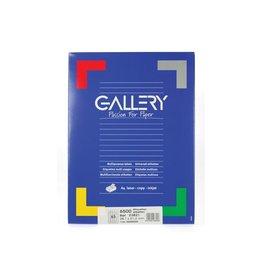 Gallery Gallery witte etik. 38,1x21,2 mm ronde hoeken, 6.500 etik.