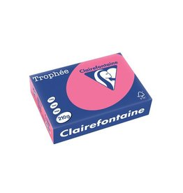 Clairefontaine Papier Clairefontaine Trophée Intens A4 fuchsia, 210 g, 250 vel