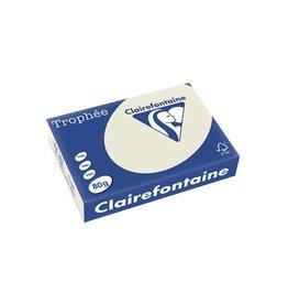 Clairefontaine Papier Clairefontaine Trophée Pastel A4, 80 g, 500 vel, parelgrijs