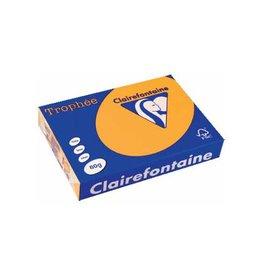 Clairefontaine Papier Clairefontaine Trophée Pastel A4, 80 g, 500 vel, goudgeel
