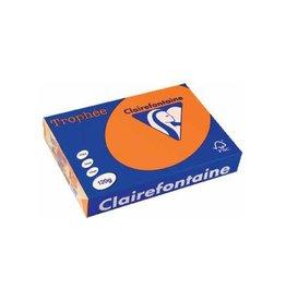 Clairefontaine Papier Clairefontaine Trophée Intens A4 feloranje, 120 g, 250 vel