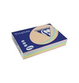 Clairefontaine Papier Clairefontaine Trophée Pastel A4, 160 g, 5x50 vel, assorti