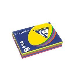 Clairefontaine Papier Clairefontaine Trophée intens A4, 80 g, 5 x 100 vel, assorti
