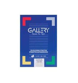 Gallery Gallery witte etik. 70x42,3 mm rechte hoeken, 2.100 etik.