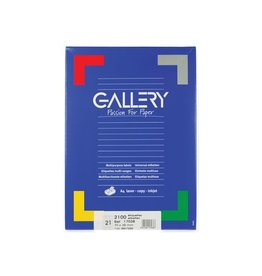 Gallery Gallery witte etik. 70x38mm rechte hoeken 2.100 etik.