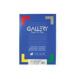 Gallery Gallery witte etik. 70x36 mm rechte hoeken, 2.400 etik.