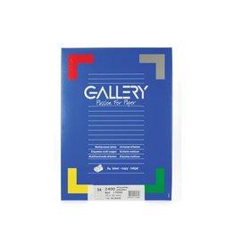 Gallery Gallery witte etik. 70x35 mm rechte hoeken, 2.400 etik.