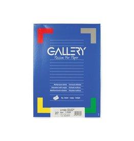 Gallery Gallery witte etik. 70x32 mm rechte hoeken, 2.700 etik.