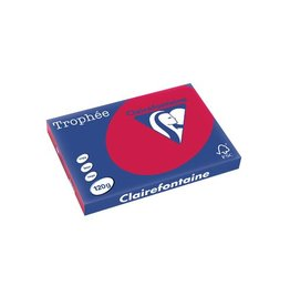 Clairefontaine Papier Clairefontaine Trophée Intens A3 kersenrood, 120 g, 250 vel