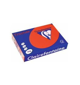 Clairefontaine Papier Clairefontaine Trophée Intens A4 koraalrood, 120 g, 250 vel