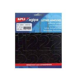 Agipa Agipa etiketten cijfers en letters letterhoogte 47 mm, 286 c