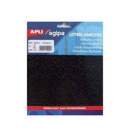 Agipa Agipa etiketten cijfers en letters letterhoogte 20 mm, 177 c