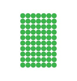 Apli Apli ronde etiketten in etui 19mm, groen, 560st, 70 per blad