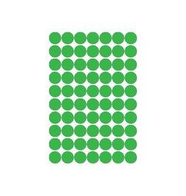 Apli Apli ronde etiketten in etui diameter 19 mm, groen