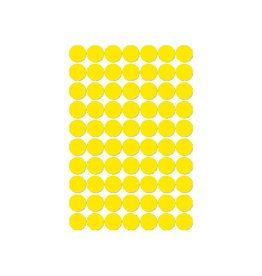 Apli Apli ronde etiketten in etui 19mm, geel, 560st, 70 per blad