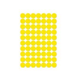 Apli Apli ronde etiketten in etui diameter 19 mm, geel