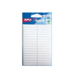 Agipa Agipa witte etiketten in etui 5x35mm (bxh),238st,34 per blad