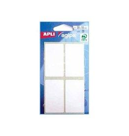 Agipa Agipa witte etiketten in etui 30x55mm (bxh), 28st, 4/blad