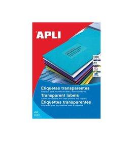 Apli Apli transp.e etiketten 70x37mm 2.400st 24/blad doos 100bl