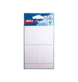 Agipa Agipa witte etiketten in etui 38x50mm (bxh), 28st, 4/blad