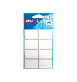 Agipa Agipa witte etiketten in etui 24x35mm (bxh), 56st, 8/blad