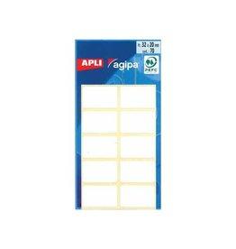 Agipa Agipa witte etiketten in etui 20x32mm (bxh),70st,10 per blad