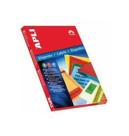 Apli Apli Gekleurde etiketten 70x37mm (bxh) groen 2.400st 24/blad