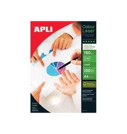 Apli Apli fotopapier Colour Laser ft A4, 160 g, pak van 100 vel