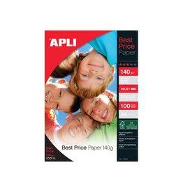 Apli Apli fotopapier Best Price ft A4, 140 g, pak van 100 vel