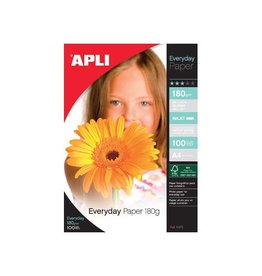 Apli Apli fotopapier Everyday ft A4, 180 g, pak van 100 vel